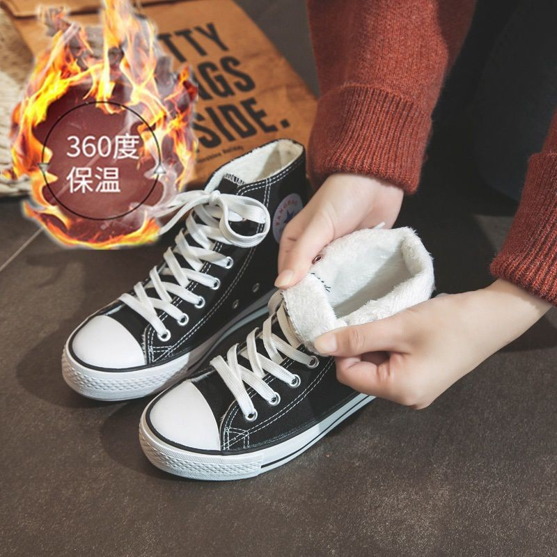 ✻㍿✸Tide shoes 2019 new cloth retro high-gang canvas schoolgirl Han version of the original Cebu ins casual board