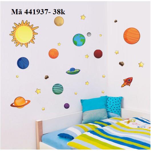 Decan dán tường 441937- Hệ mặt trời - 2784718 , 1030744300 , 322_1030744300 , 38000 , Decan-dan-tuong-441937-He-mat-troi-322_1030744300 , shopee.vn , Decan dán tường 441937- Hệ mặt trời
