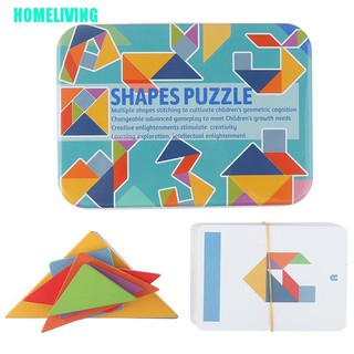 HOMELIVING▷Wooden Tangram Jigsaw Toy Training Puzzle Cognitive Children Early Education Toy