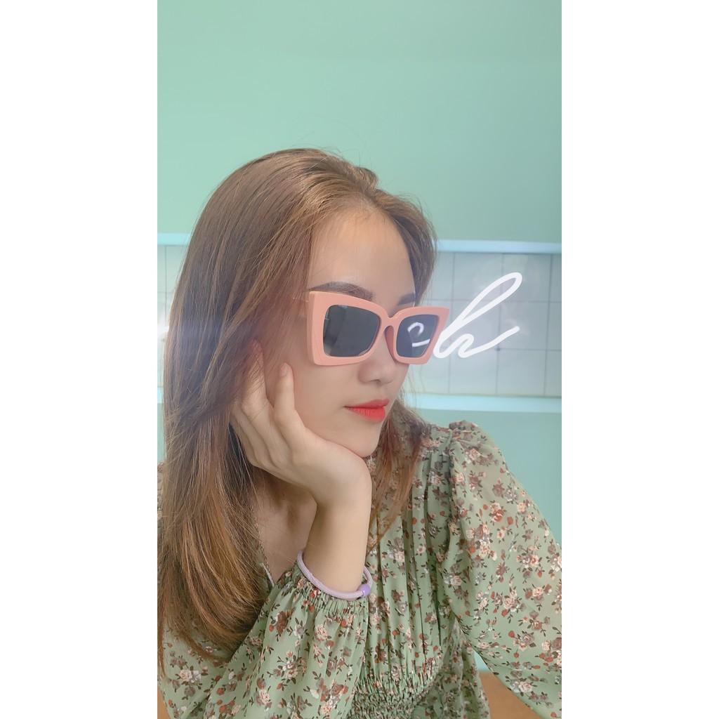 [Mã FAFS9 hoàn 20% đơn 99K] Kính mắt nữ gọng vuông , kính mắt thời trang nữ Hàn Quốc chống...