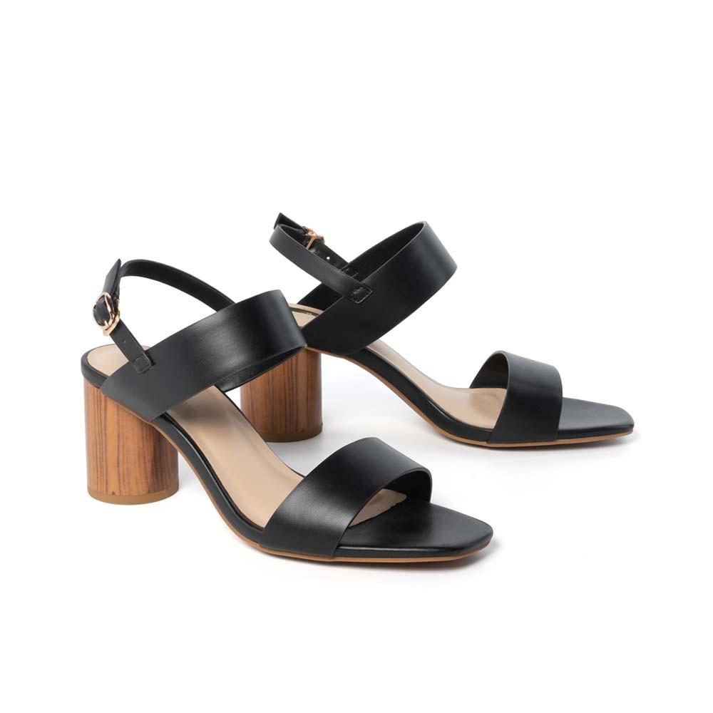 JUNO - Giày sandal gót trụ sơn giả gỗ - SD07041