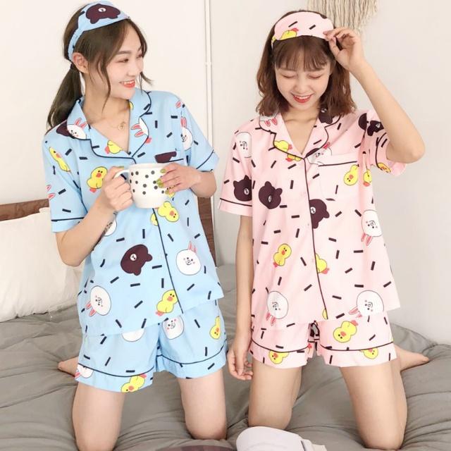 [Nhập mã WA12150 giảm 20k đơn 150k]-- Bộ ngủ pijama ngắn hình mới