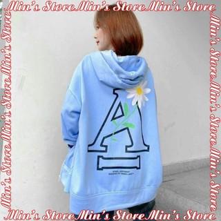 [CHẤT ĐẸP] Áo khoác nỉ nữ dây kéo form rộng , áo khoác nỉ nữ in hình họa tiết hoa cúc – KN7