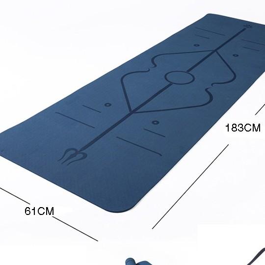 Thảm tập định tuyến yoga mat gym thể dục tpe chống trơn trượt 8mm không kèm túi