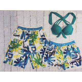 Cặp quần đôi nam nữ đi biển lá dừa đẹp kèm áo ( Đảm bảo như hình)- Mới nhất