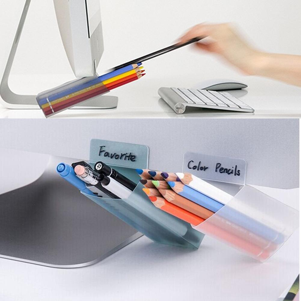 2x DIY Desktop Sticky Pen Pencil Holder Container Office Desk Organizer Storage