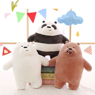 We Bare Bears Grizzly Ice Bear Panda Stuffed Cushion Pillow Doll Plush Soft Toy