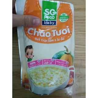 cháo tươi SG Food thịt thăn bầm & bí đỏ (date tháng 29/4/2021)
