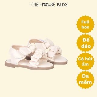 Sandal bé gái – Sandal trẻ em cao cấp nơ nhúm – THE HOUSE KIDS