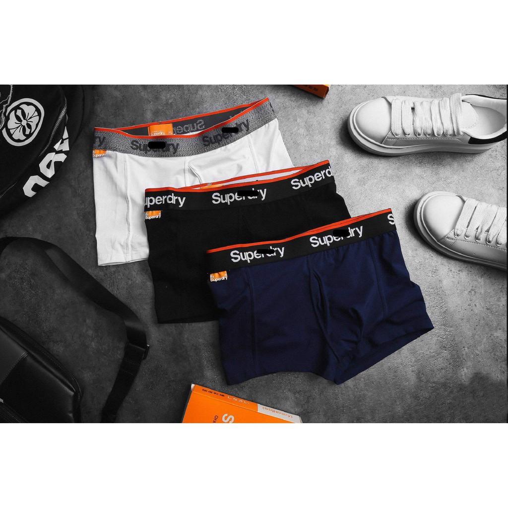 Quần Lót Nam Boxer Super.D.r.y Cao Cấp Set 3 Màu , Cotton, Size M, L , XL , Giá Cực Tốt