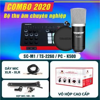 [CHÍNH HÃNG] Combo thu âm TAKSTAR, sourd card SC M1, micro PC k500, tai nghe TS2260, BẢO HÀNH CHÍNH HÃNG 12 THÁNG