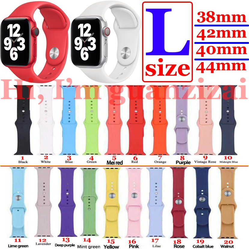 Dây đeo silicone thay thế cho Apple Watch 1/ 2/ 3/4/5/6/se 38mm/40mm/42mm/44mm