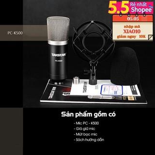 (FREESHIP)TẶNG CÁP IPHONE 【Chính hãng】Mic thu âm chuyên nghiệp cao cấp Takstar PC-K500 hát karaoke, livestream, bán hàng