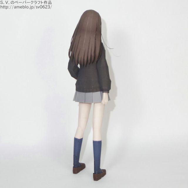 Mô hình giấy anime girl Rin Shibuya