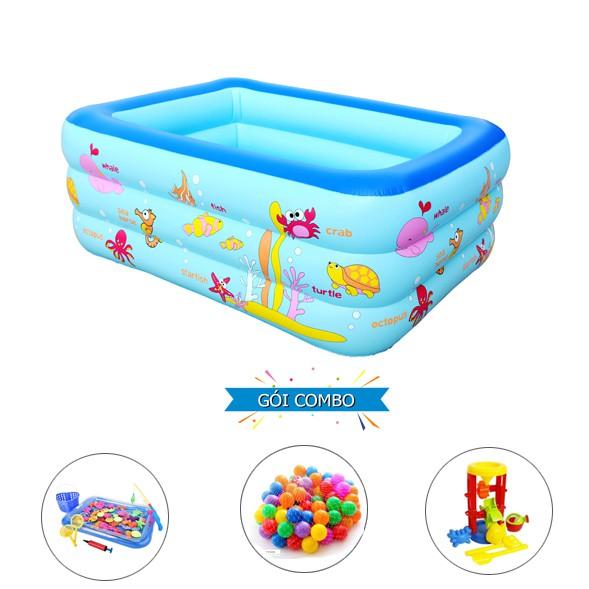 Bộ bể bơi 1m5 3 tầng + bộ câu cá + 100 banh ( bóng ) nhựa + xúc cát - 2754622 , 1049405183 , 322_1049405183 , 500000 , Bo-be-boi-1m5-3-tang-bo-cau-ca-100-banh-bong-nhua-xuc-cat-322_1049405183 , shopee.vn , Bộ bể bơi 1m5 3 tầng + bộ câu cá + 100 banh ( bóng ) nhựa + xúc cát