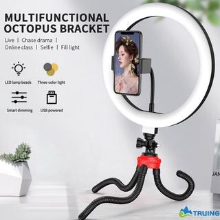 Đèn Led tròn có chân đế tripod chụp ảnh selfie trang điểm quay video có thể điều chỉnh độ sáng chuyên dụng