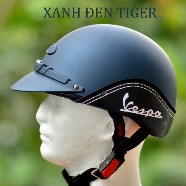 [Chính Hãng] Mũ Bảo Hiểm Nửa Đầu Canary/Omega Vespa Không Kính (Vòng đầu từ 54 - 58cm) - Chuẩn Quatest 4 [FREESHIP]
