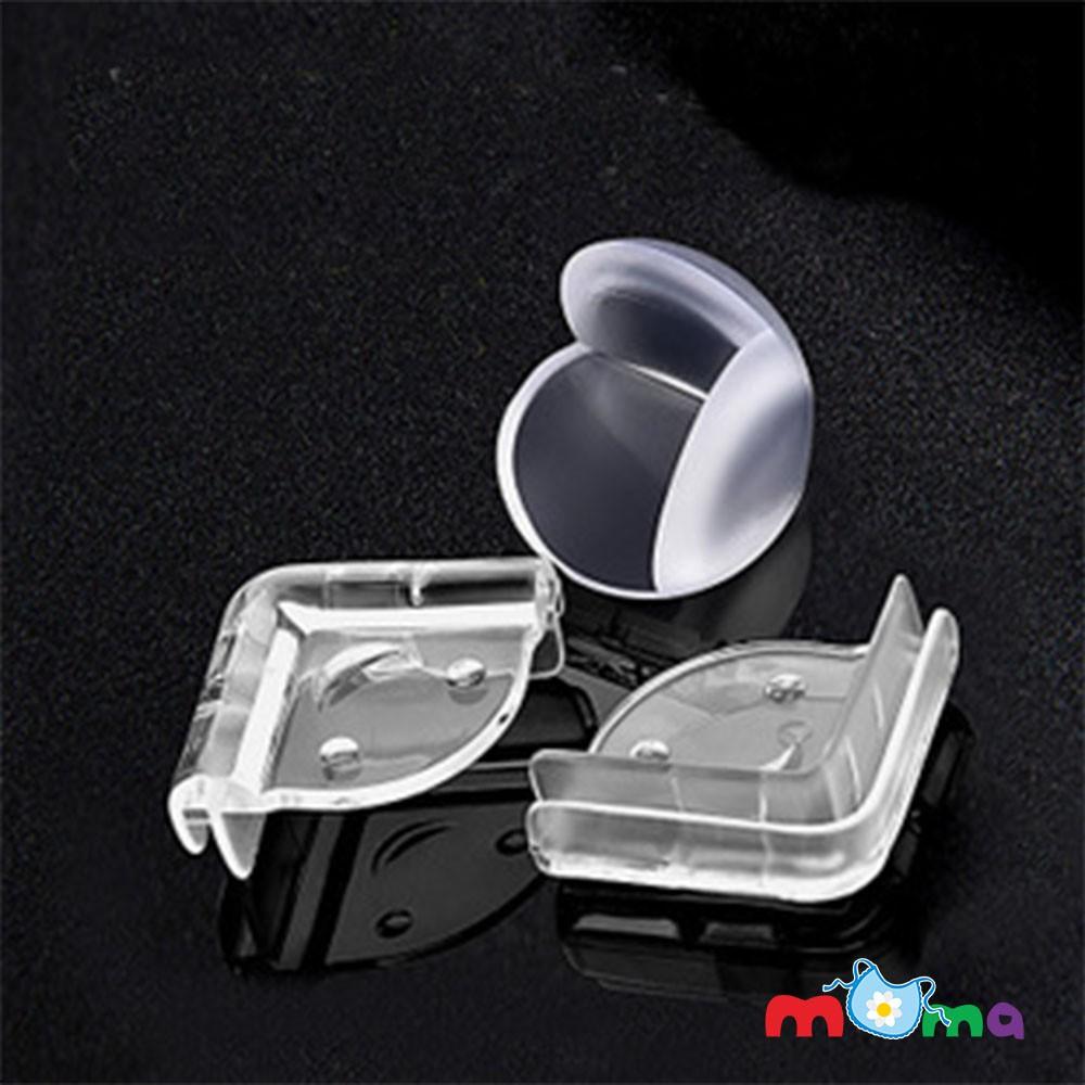 Bộ 4 miếng nhựa dẻo bọc góc bàn,tủ,giường,nẹp góc SILICON trong suốt chống va đập an toàn cho bé _BG010(hình ngẫu n