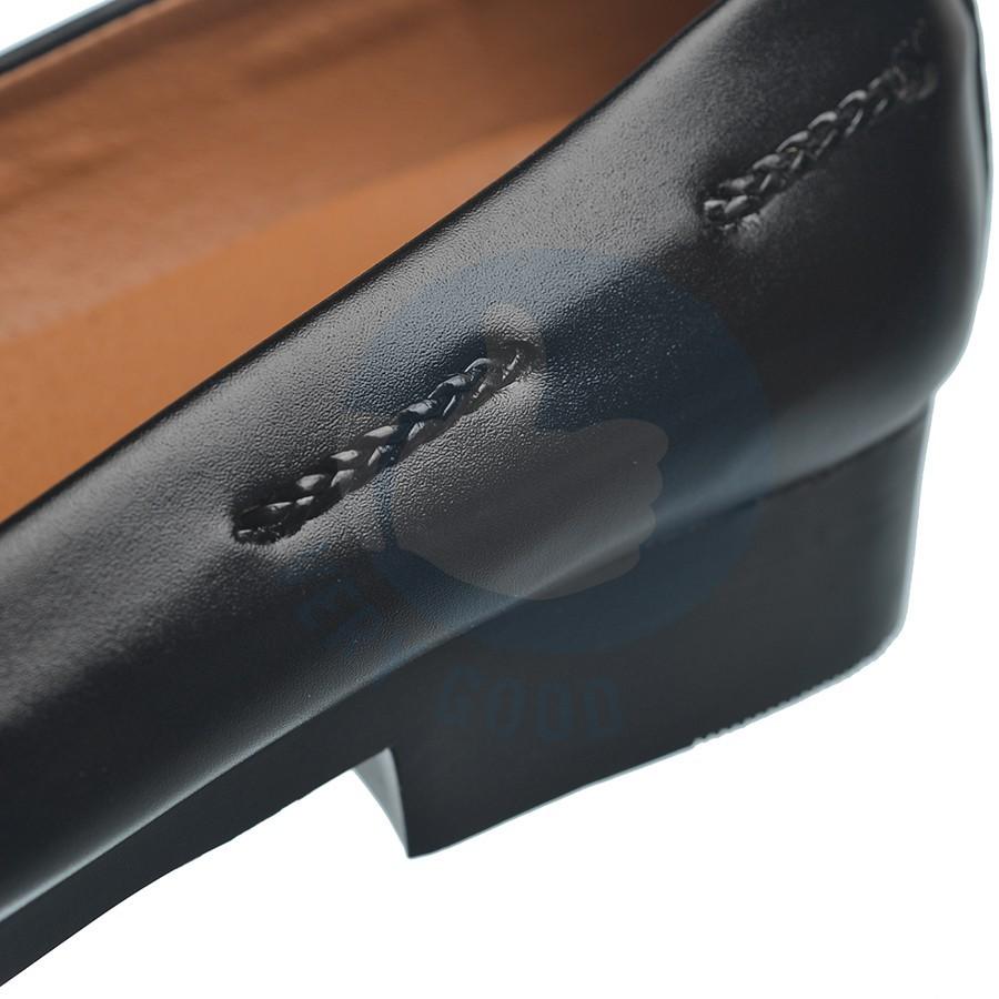Giày lười nam dây chuông xích đen MS16 , giày nam lịch lãm kl38