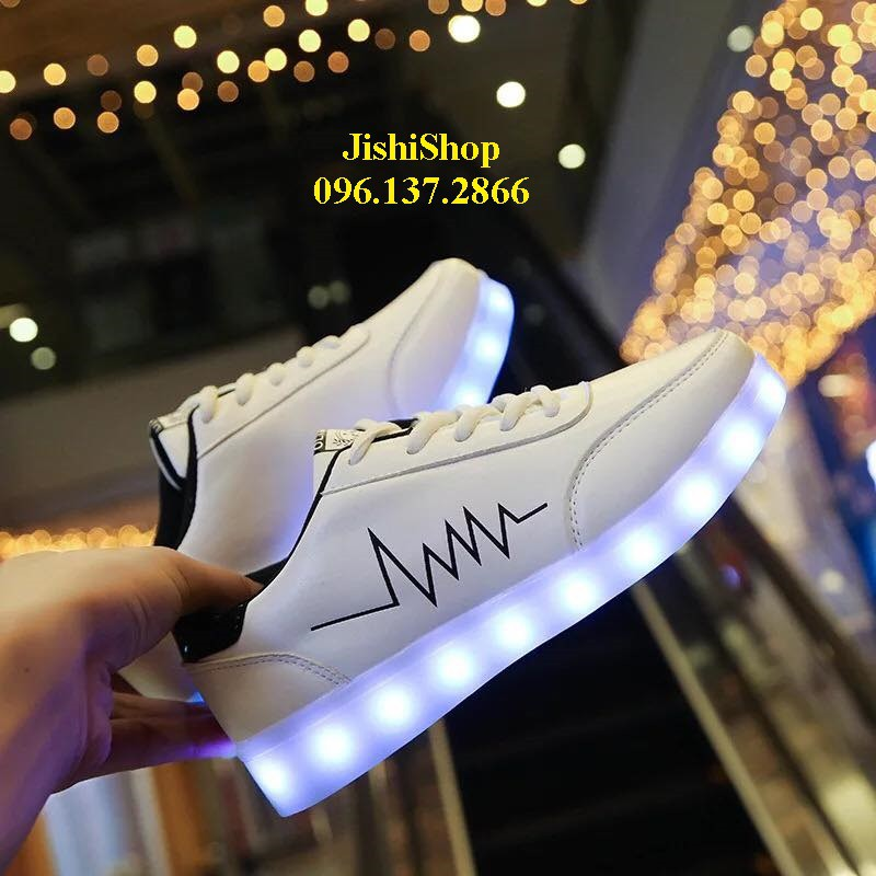 giầy NHỊP TIM TRẮNG giày phát sáng đèn led cao cấp cá tính PS 7 màu 11 chế độ ( tặng thêm dây giầy 7 màu ) - 14392632 , 2011890834 , 322_2011890834 , 248000 , giay-NHIP-TIM-TRANG-giay-phat-sang-den-led-cao-cap-ca-tinh-PS-7-mau-11-che-do-tang-them-day-giay-7-mau--322_2011890834 , shopee.vn , giầy NHỊP TIM TRẮNG giày phát sáng đèn led cao cấp cá tính PS 7 màu