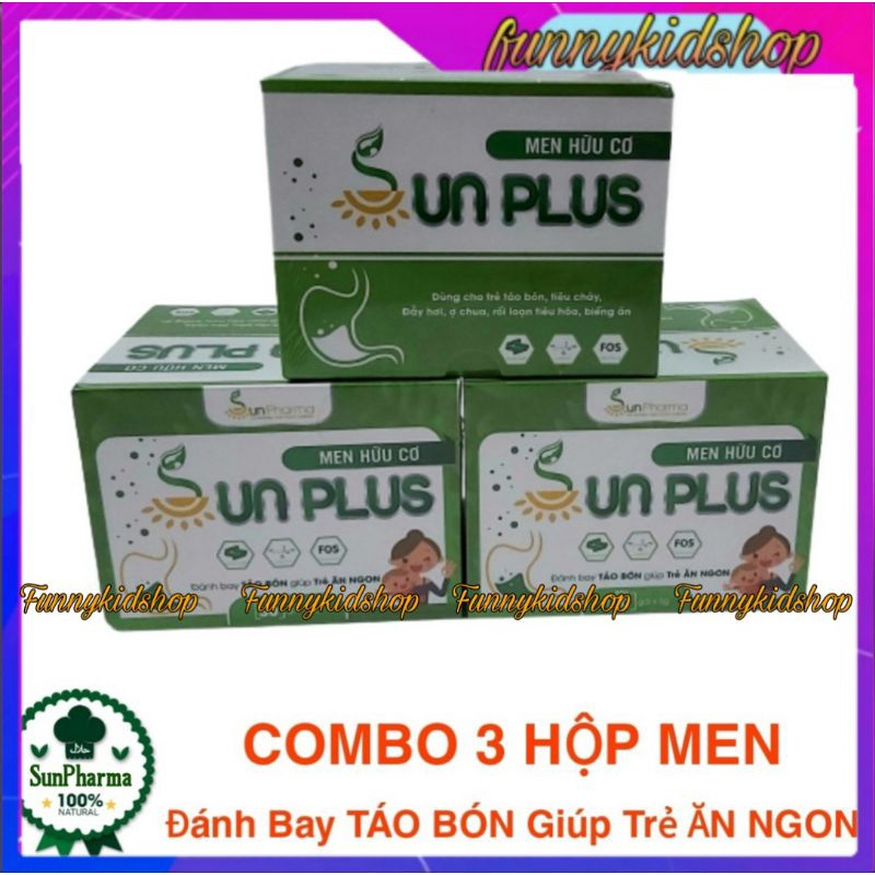 Combo 3 Hộp Men Hữu Cơ Sunplus - Sunplus Men hữu cơ nhập khẩu
