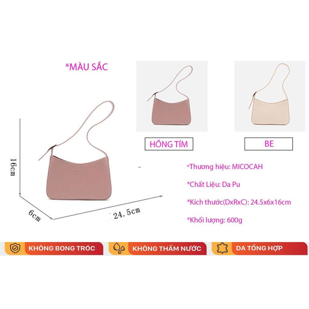 Túi Xách Nữ 💖FREESHIP💖 Túi Xách Nữ Đeo Vai Micocah Phối Màu Theo Phong Cách Vintage MC30-TATA.VN