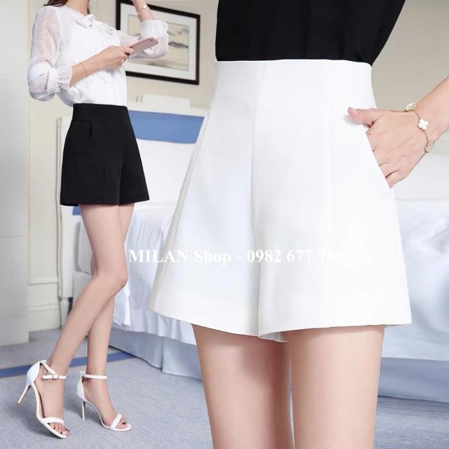 Quần short vải cạp( lưng) cao hàng Quảng Châu