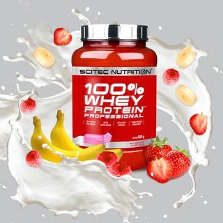 Whey Whey Protein Scitec 100% Whey Protein Professional - Sữa Tăng Cơ Không Tăng Mỡ 920g thumbnail