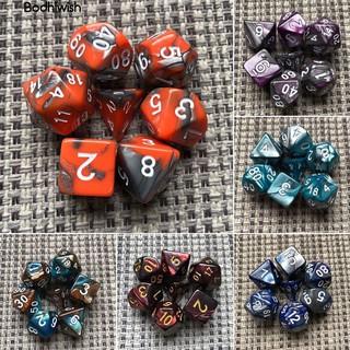 Bộ 7 xúc xắc nhiều mặt chơi trò chơi