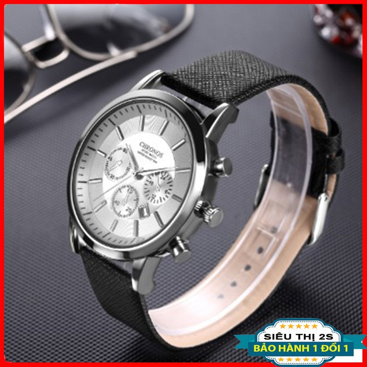 Đồng hồ nam thời trang Chronos chống xước, chống nước 3ATM