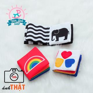 Bộ 3 sách vải kích thích thị giác cho bé| Đồ chơi cho trẻ sơ sinh
