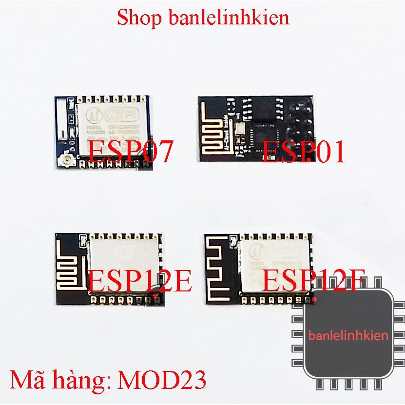 Module thu phát sóng wifi ESP8266 các phiên bản
