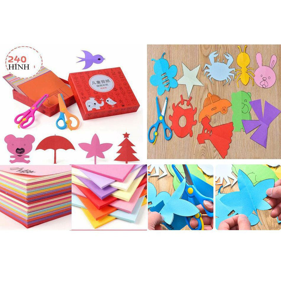 [GIÁ RẺ VÔ ĐỊCH] Bộ đồ chơi cắt giấy tạo hình cho bé