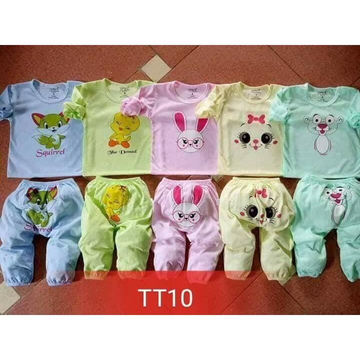 Combo 5 bộ dài tay cho bé cater's cotton size 2-6/quần áo trẻ em/Bộ bé trai/Bộ b