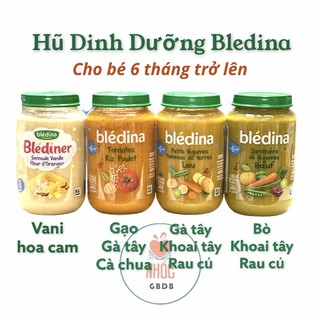 BLEDINA - Hũ dinh dưỡng cho bé 6m+ 190g (Pháp) thumbnail