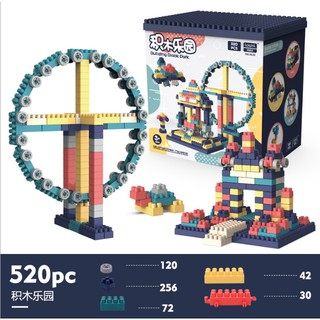 Bộ xếp hình mầm non Đồ chơi lắp ghép đồ chơi lắp ráp xây cho bé sáng tạo 520 chi tiết