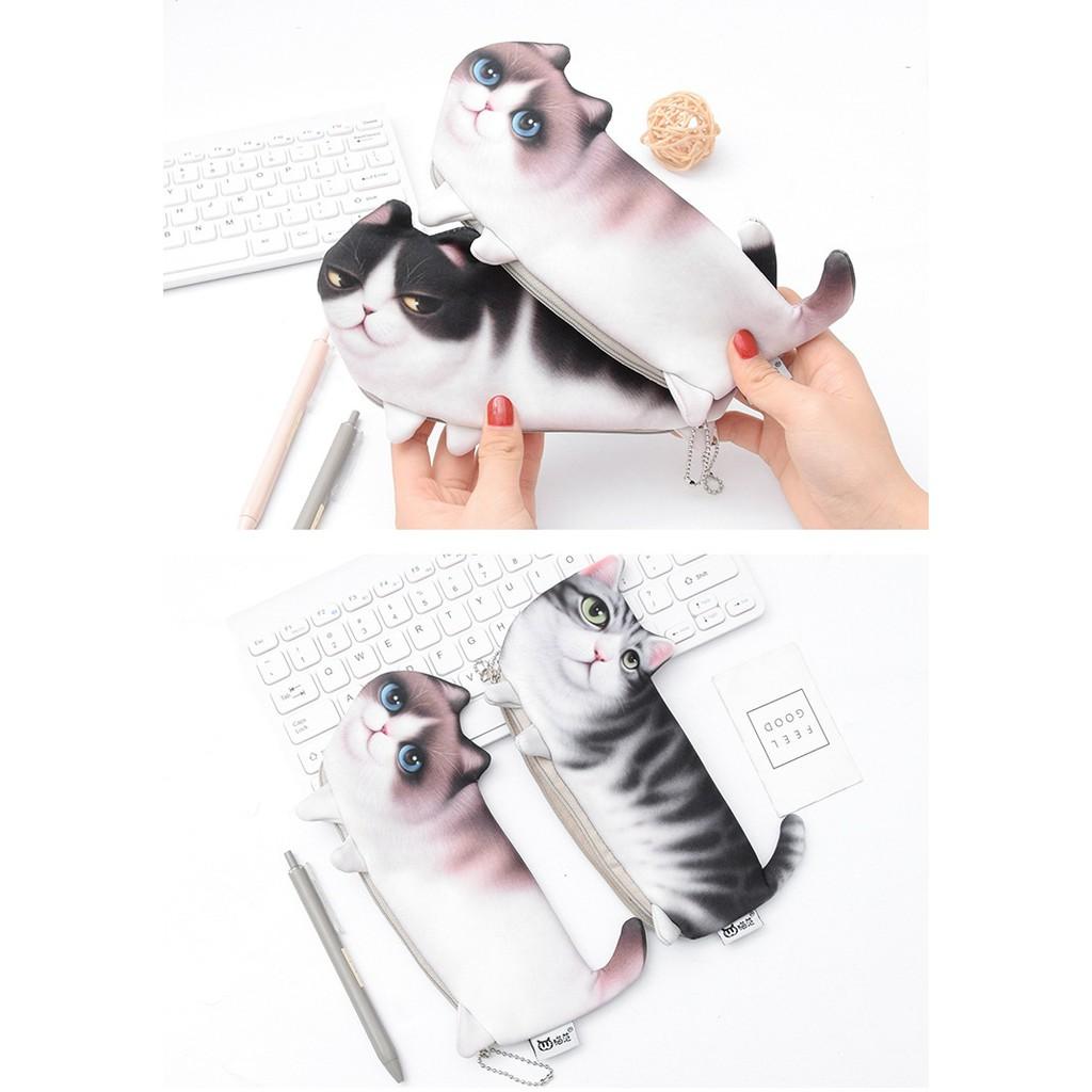 Bóp viết mèo 3D dễ thương thời trang