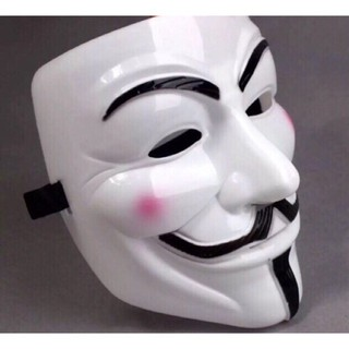 Mặt nạ hacker Anonymous Trắng-(P18) bao test