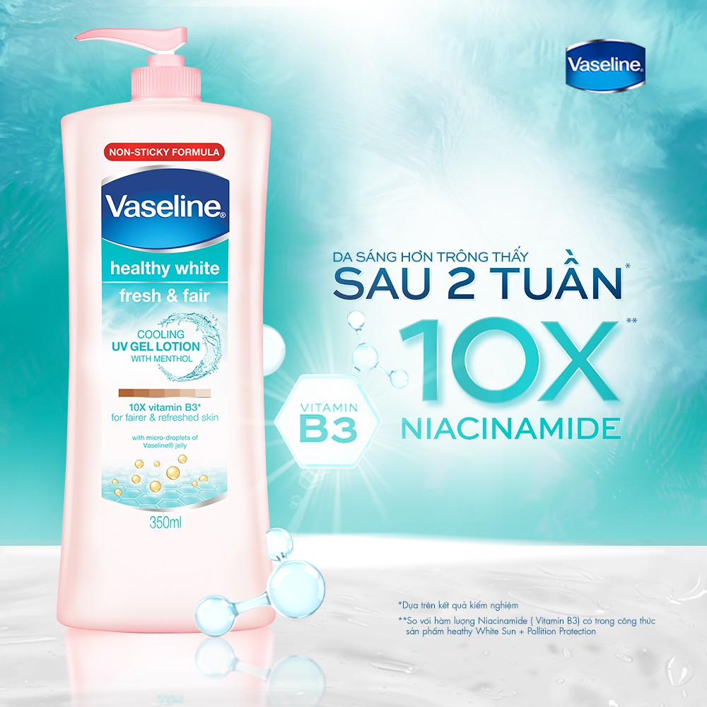 [Mã COSMALL25 -10% ĐH 250K]Sữa dưỡng thể trắng da Vaseline 350ml