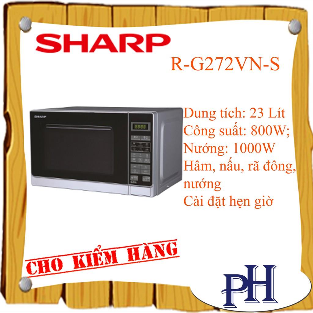 Lò vi sóng điện tử có nướng Sharp R-G272VN-S 20L