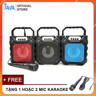 [ TẶNG 1 HOẶC 2 MICRO] Loa Kẹo Kéo Karaoke Bluetooth Mini - Loabluetooth- JAVA63bt