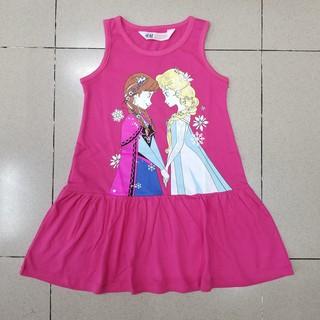 Đầm thun cotton sát nách công chúa elsa mát mẻ