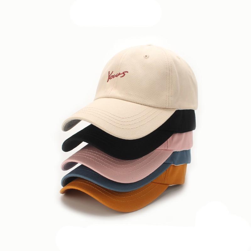 Mũ lưỡi trai nhiều màu in chữ từ cotton dành cho nam và nữ