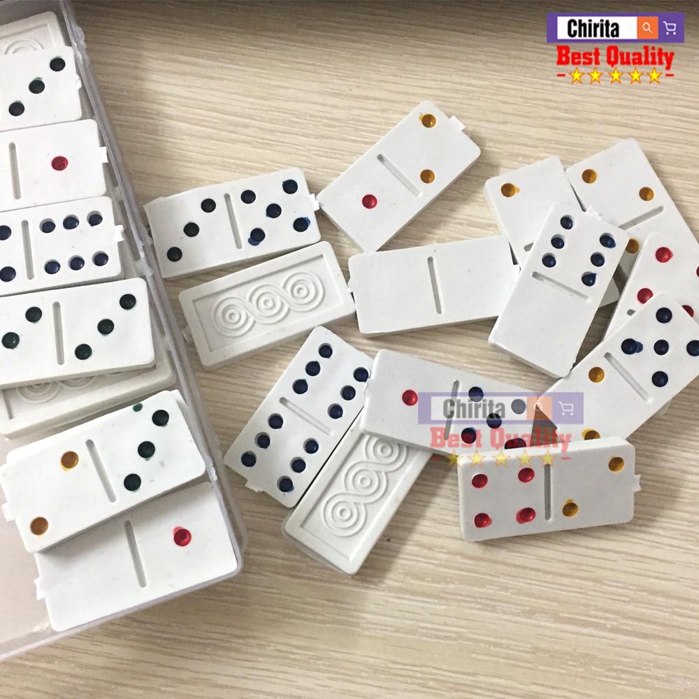 Cờ Domino Nhựa Trắng - Chirita DMT