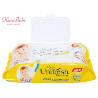 Khăn Ướt Unifresh Vitamin E (80 Miếng) thumbnail