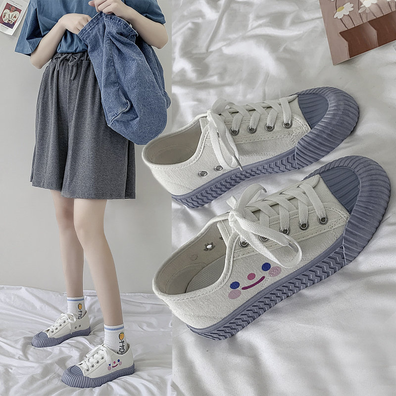 Giày sneaker vải canvas thời trang sinh viên năng động dành cho phái đẹp
