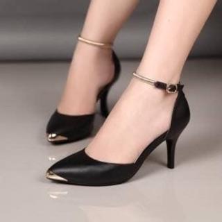 Giày cao gót dây cách điệu bao đẹp cao 5 phân