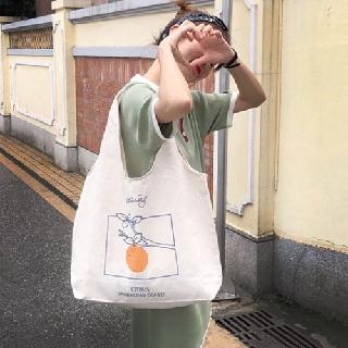 Hình ảnh Túi Vải Đeo Vai Phong Cách Nhật Bản Cao Cấp XinhStore-4