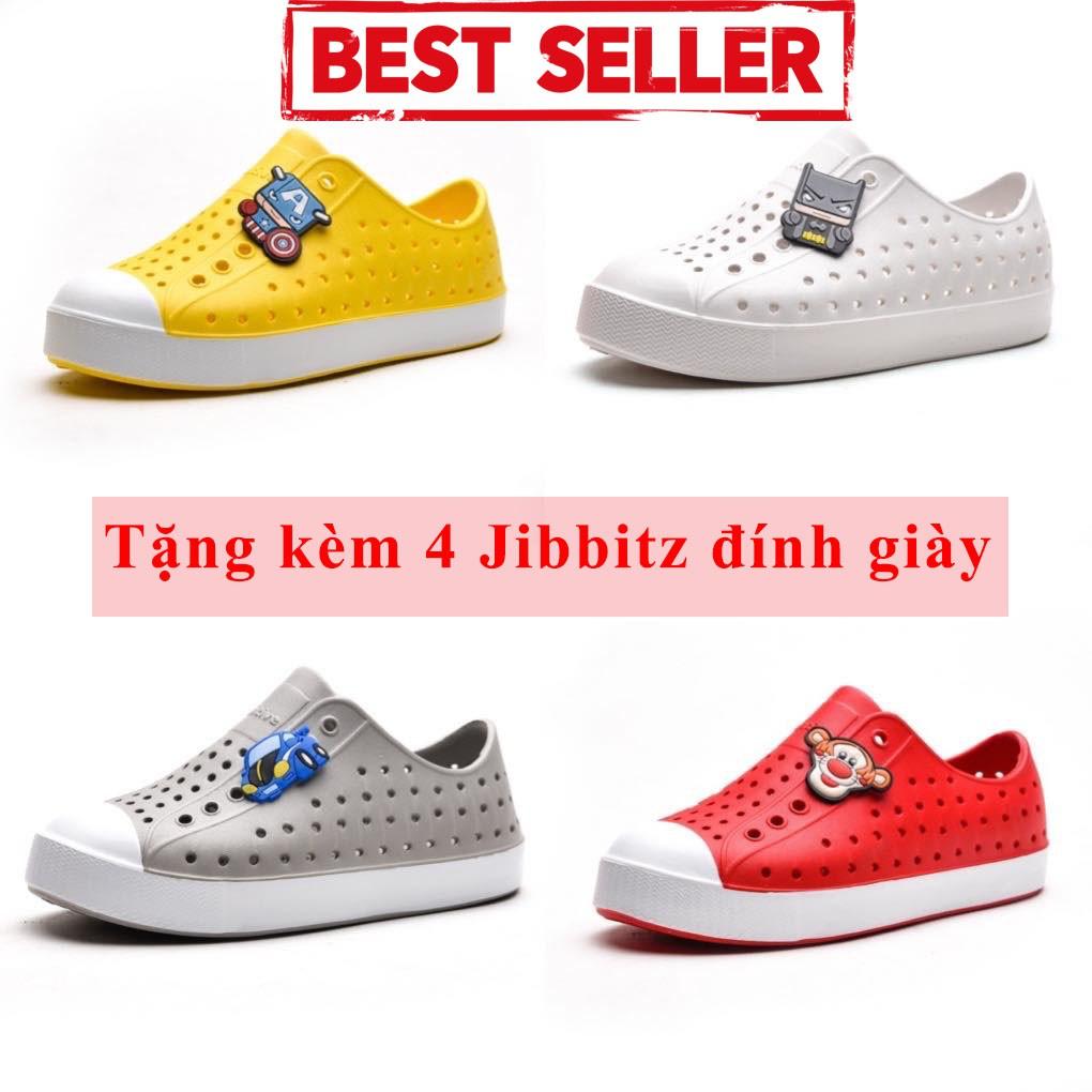 Giày nhựa Native cho bé 4 màu (Tặng kèm 4jbz ngộ nghĩnh)