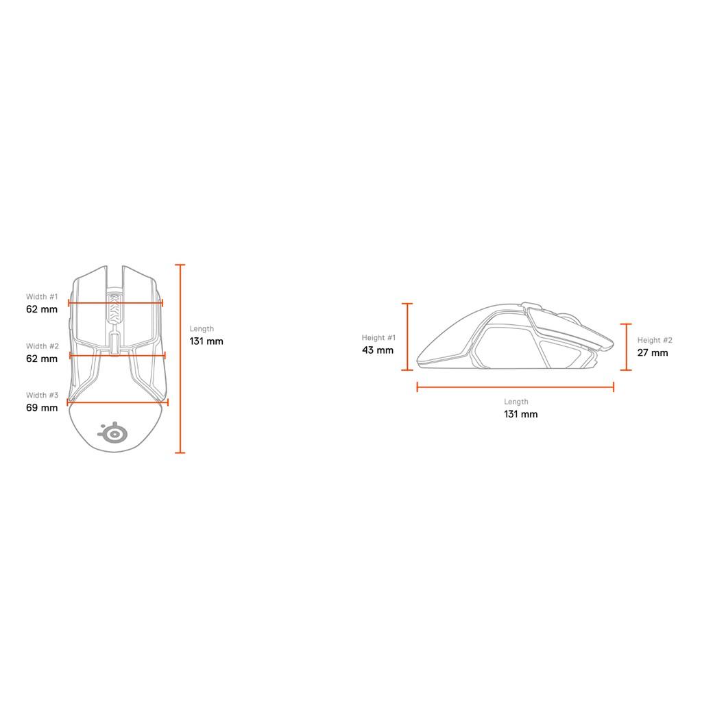 [Mã 267ELSALE hoàn 7% đơn 300K] Chuột gaming Steelseries Rival 650 Wireless The First True Performance Wireless Mouse
